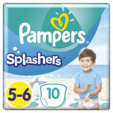 PAMPERS Pants Splashers veľ. 5-6 (14+ kg), 10 ks - jednorazové plienky do vody