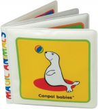 CANPOL BABIES Měkká knížka pískací vybarvovací - lachtan