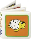 CANPOL BABIES Mäkká knižka pískacia vyfarbovacia – korytnačka
