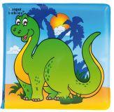 CANPOL BABIES Miękka książka piszcząca – dinozaur