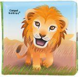 CANPOL BABIES Miękka książka piszcząca – lew
