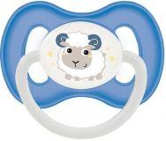 CANPOL BABIES A - Cumlík silikón symetrický 0-6m Bunny&Company - modrá