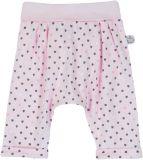 BOBOLI Nohavice s potlačou srdiečok, 68 cm - svetloružová / potlač, dievča