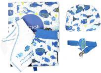 BOBOLI Dárkový set pro miminko - rybka, 62 cm - bílá/potisk, uni