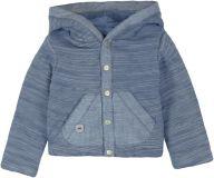 BOBOLI Oboustraný kabátek s kapucou, 80 cm - modrá, uni