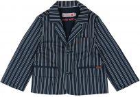 BOBOLI Chlapecké společenské sako, 104 cm - modrá/pruh, kluci