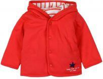 BOBOLI Oboustranná bunda s kapsami, 74 cm - červená/pruh, uni
