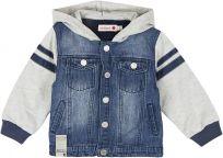 BOBOLI Přechodová džínová bunda, 98 cm - modrá/šedá, kluci