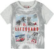 BOBOLI Chlapecké triko krátký rukáv , 80 cm - šedá, kluci