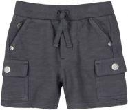 BOBOLI Chlapecké bavlněné kraťasy, 68 cm - šedá, kluci