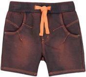 BOBOLI Chlapecké bavlněné kraťasy, 74 cm - oranžová/hnědá, kluci