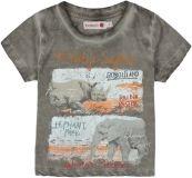 BOBOLI Koszulka krótki rękaw safari, rozm. 104 cm – brązowa, chłopczyk