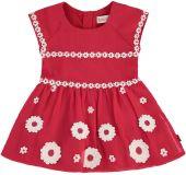 BOBOLI Dívčí šaty - květina, 80 cm - červená/potisk, holky