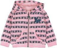BOBOLI Dívčí rozepínací mikina s kapucí, 86 cm - růžová/potisk, holky