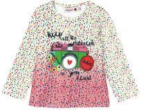 BOBOLI Dívčí tričko dlouhý rukáv - foťák, 104 cm - potisk, holky
