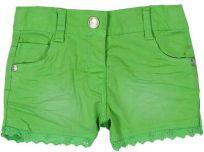 BOBOLI Dievčenské kraťasy s krajkou, 98 cm – zelená