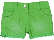 BOBOLI Dívčí kraťasy s krajkou, 98 cm - zelená, holky
