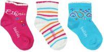 BOBOLI Set ponožek 3 ks, 25/27 - tmavě růžová/potisk, holky