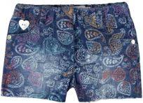 BOBOLI Dívčí šortky, 80 cm - modrá/potisk, holky