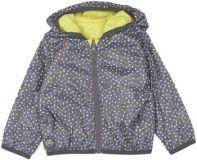 BOBOLI Oboustranná bunda dívčí, 80 cm - žlutá/šedá, holky