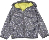 BOBOLI Obojstranná bunda dievčenská, 92 cm - žltá / sivá
