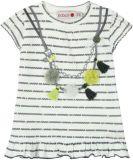 BOBOLI Dívčí tunika náhrdelník, 80 cm - bílá/potisk, holky