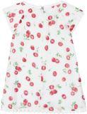 BOBOLI Šaty - třešeň, 92 cm - bílá/potisk, holky