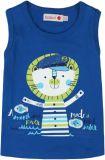 BOBOLI Chlapecké tílko - lev, 104 cm - modrá/potisk, kluci
