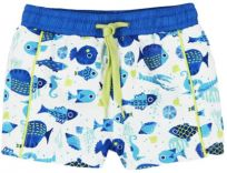 BOBOLI Chlapecké plavky - rybka, 98 cm - bílá/potisk, kluci