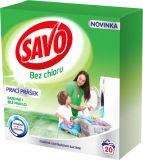 SAVO Bez chloru Universal prací prášek na bílé a barevné prádlo 20 praní