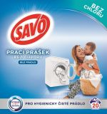 SAVO Bez chlóru White prací prášok na biele prádlo 20 praní