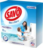 SAVO Bez chloru White Proszek do prania białego 20 prań