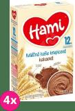 4x HAMI Kaše krupicová s kakaem (225 g) - mléčná kaše