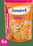 6x SUNÁREK Dětské sušenky písmenkové 150g