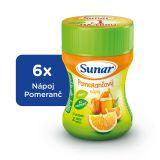 6x SUNAR Pomarančový rozpustný nápoj - dóza (200 g)