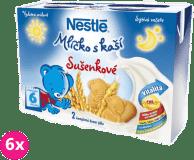 6x NESTLÉ Mliečko s kašou sušienkové (2x200 ml)