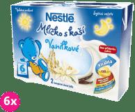 6x NESTLÉ Vanilkové mlíčko s kaší (2x200 ml)
