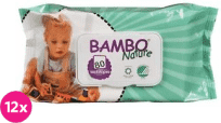 12x BAMBO Nature Chusteczki nawilżane 80 szt.