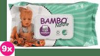 9x BAMBO Nature Chusteczki nawilżane 80 szt.