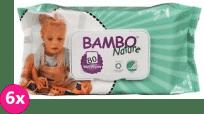 6x BAMBO Nature vlhčené ubrousky (80 ks)