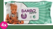 4x BAMBO Nature Chusteczki nawilżane 80 szt.