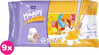 9x BELLA HAPPY BABY Vlhčené obrúsky mlieko a med 64 ks