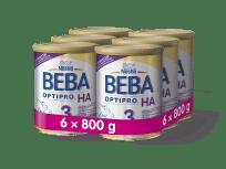 6x BEBA OPTIPRO HA 3 (800 g) - dojčenské mlieko