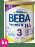 6x NESTLÉ BEBA Optipro HA 3 (800 g) – dojčenské mlieko