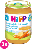 3x HIPP BIO Zeleninová polévka s krůtím masem (190 g)