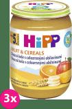 3x HIPP BIO Ovocná kaše s celozrnnými obilovinami (190 g) - ovocný příkrm