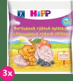 3x HIPP BIO borůvkové rýžové oplatky pro děti (30 g)