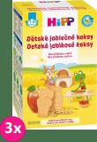 3x HIPP BIO dětské jablečné keksy (150 g)