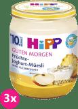 3x HIPP BIO Müsli, ovocie a jogurt (160 g) - ovocný príkrm