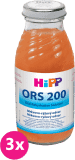 3x HIPP ORS 200 Mrkvovo rýžový odvar 200ml